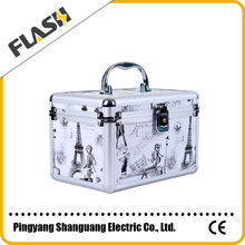 Hard Makeup Case China Market Metal Aluminum Cosmetic Case