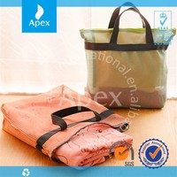 Custom reusable travel storage tote mesh bag