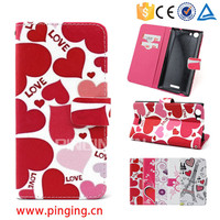 Factory Supply Colorful Printing Wallet Flip Case For Blu Studio G HD