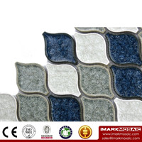 IMARK Arabesque Lantern Pattern Crackle Glazed Ceramic Mosaic Tile/Backsplash Tile For Homdepot