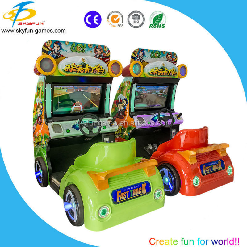 karting cars racing go kart used electric cars kids simulator racing games in coin operated for sale