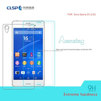 Newest item cell phone smart mobile touch tempered glass screen protector for z3
