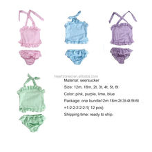 Wholesale Summer Kids Seersucher Swimsuit