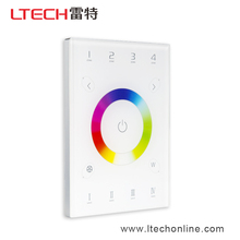 LTECHLED RGBW light switch touch panel DMX512/RF Wireless/WIFI distant control/Remote control suitable for all types of wall box