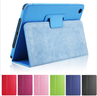 For iPad Air Flip Litchi Grain Leather Stand Cover Case