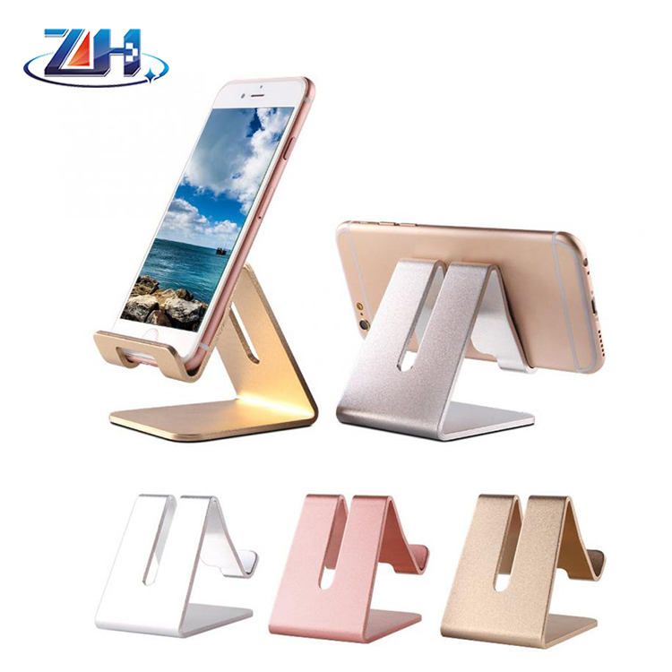 Protable Aluminum Metal Mobile Phone Tablet Desk Holder Stand for All Smartphone