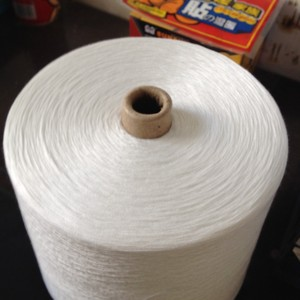white 20/2 virgin yarn with spun polyester for sewing thread