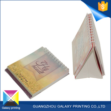Chinese printing manufacturer spiral islamic sliding date calendar with stand