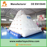 0.9mm PVC tarpaulin Inflatable Water Climbing Wall For Lake Water Games