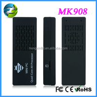 Hot !! New!!!Quad core cortex MK908 Android TV stick with RK3188 quad-core CPU+2.4G Fly air mouse