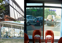 golden reflective light transmittance window tint film solar control window film for building