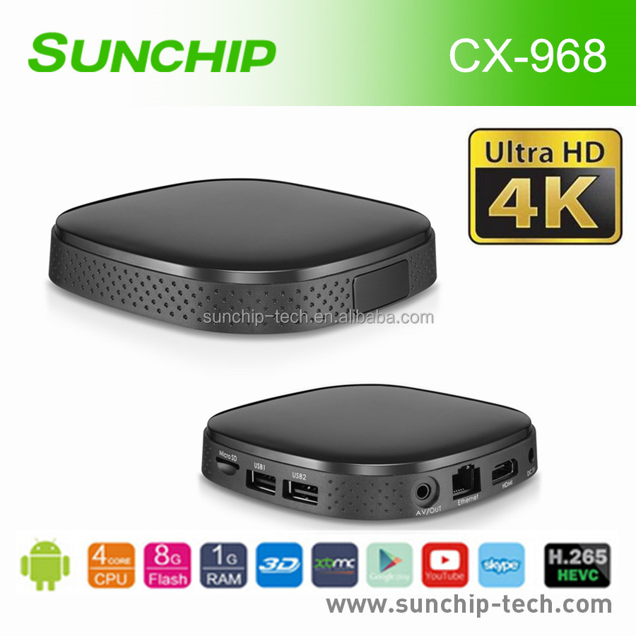300% Performance upgrade android quad core tv box 4k
