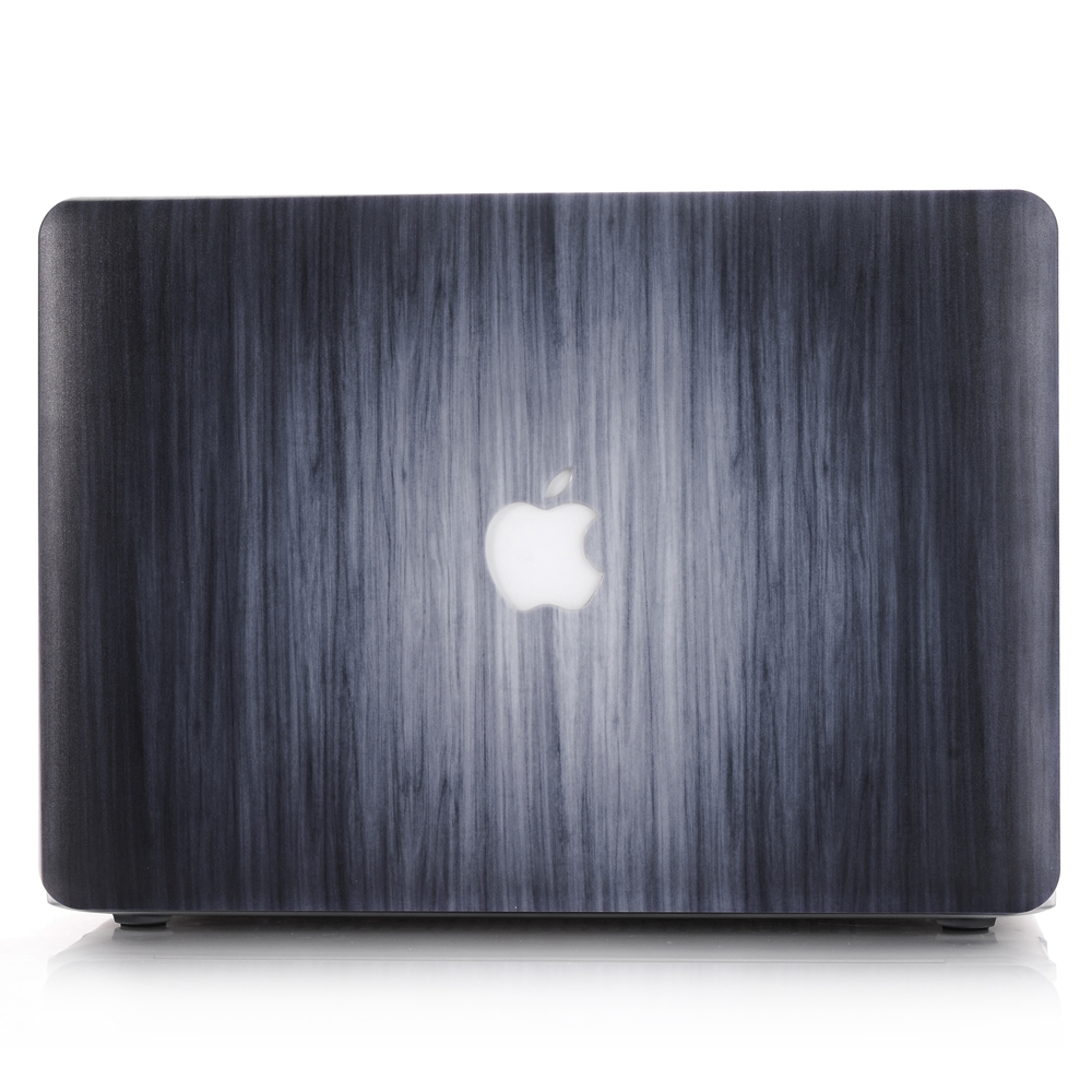 customized wood grain pattern 17 hard case for macbook pro