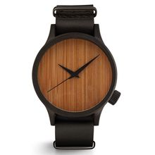 Wholesale Cheap Fashion Wooden Watch Leather Strap Unisex Watch