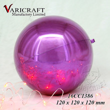Factory direct 120 mm Purple plated plastic Christmas ball ornament