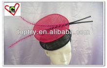 The multiple color elegant sinamay fascinator for lasy