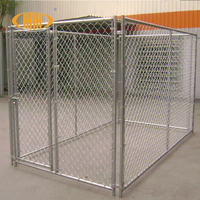 Low price hot sale chain link iron fence dog kennel