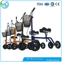 Protector support knee walkers for handicapped