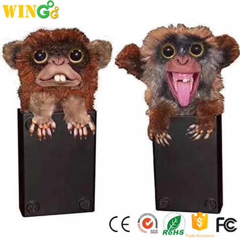 Hidden Surprise Scare Monkey Furry Sneekums Mischief Pranksters Toys