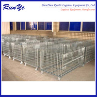 Foldable storage container,wire cage,assemble cage with zinc