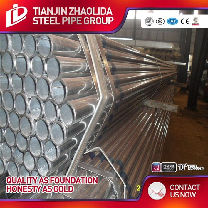 MS / CS welded cold rolled electrical metallic tubing galvanized round 6 meter fence steel tube with low price