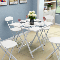 Promo portable folding plastic table and chair set