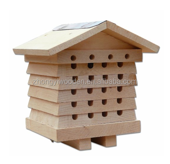 china factory sale FSC wildlife Wooden wild garden Mason Bee bee insect house
