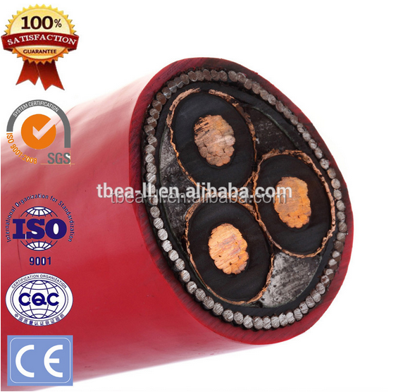 XLPE Insulated Low Smoke Zero Halogen Medium Voltage 6.35/ 11KV Power Cable