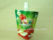 apple juice stand up pouch with spout