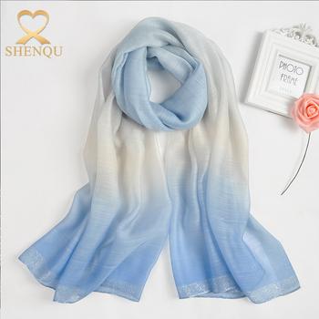 soft print scarf spring summer sunscreen wrap hijab scarf silk