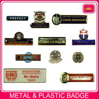 custom company logo plastic epoxy name badge/nameplate