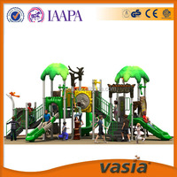 Outdoor Playground Type and Plastic Playground Material Plastic slide and swing outdoor playhouse for kids