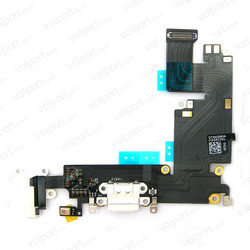 Charger Port Dock Headphone Jack Mic White Flex Cable Ribbon for iphone6 plus