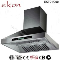 domestic premium 3 speed screen touch control inox tower powerful industrial 36'' stainless steel chimney pipe range hood