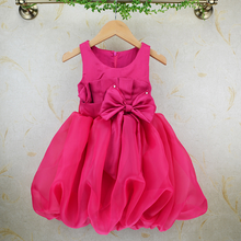 W52053Q 2016 new summer girls dress sleeveless vest skirt dress princess tutu dress for 2-7 year olds
