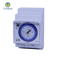 Din Rail Mounting Mechanical Module monthly Timer Switch