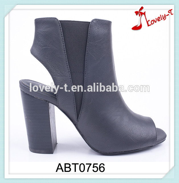 Insolent woman sey summer slingback open toe high heel boots with side zipper