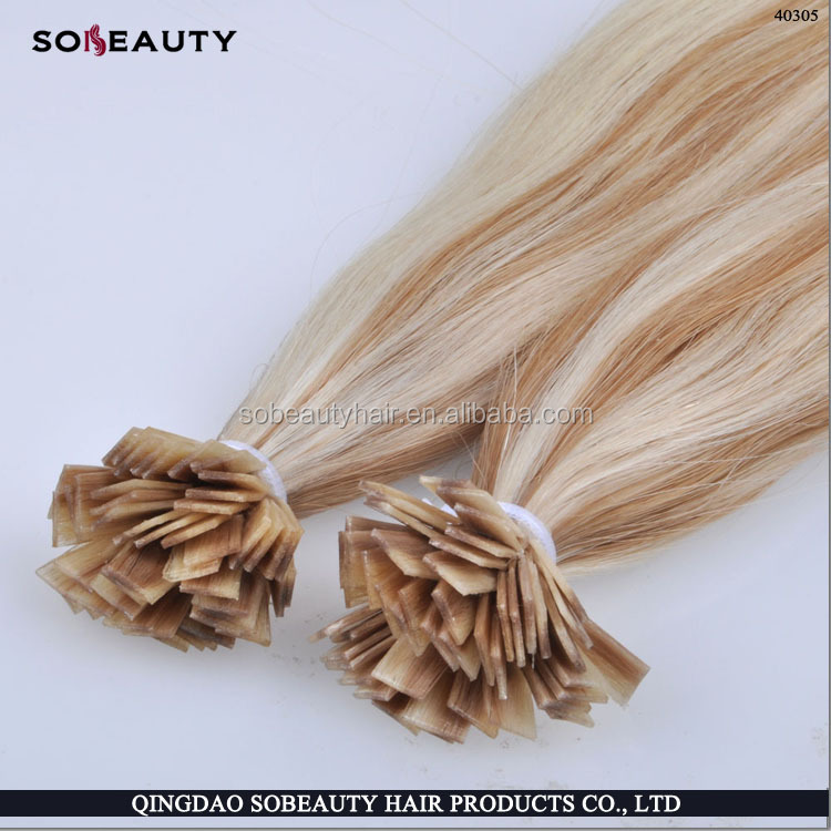 100% Peruvian virgin Remy human U tipped hair extensions wholesale Deep wave braiding hair nail hair