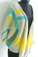TYSL310 outside cardigan sweater beautiful blue yellow white