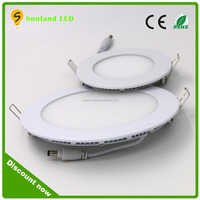 ultra slim led flat round panel light, panel in led with 3 years warranty