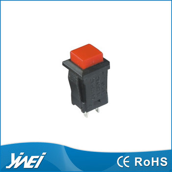PBS series red button momentary switch off-(on) 2 brass pins(YW4-317 3A125V 1A250V AC)