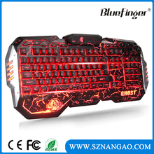 Custom Topset Wired Gaming ergonomic keyboard with colorful backlit