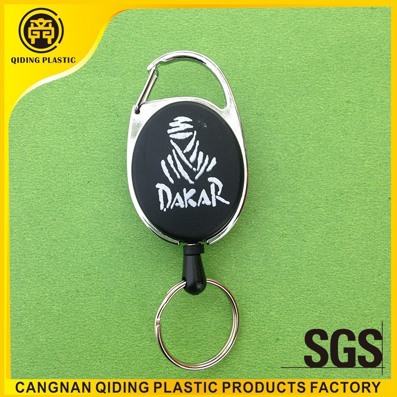 Retractable badge holder with custom silk printing logo