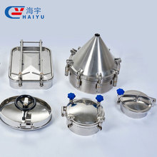 Stainless steel tank manway manhole cover, sanitary round manhole cover