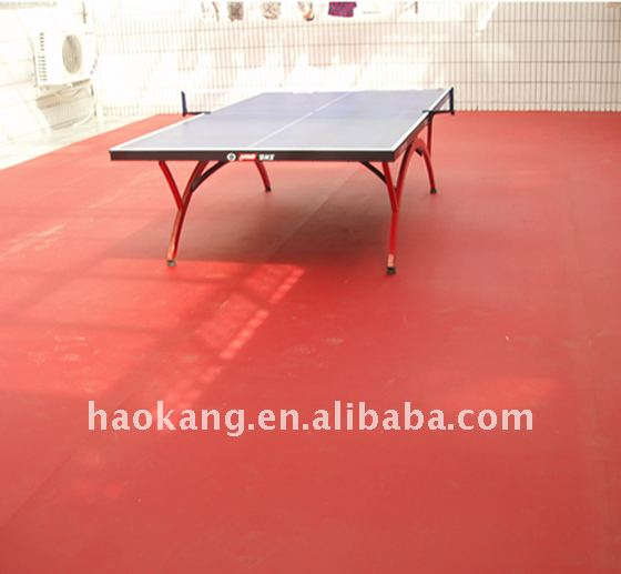 Super Durable Table Tennis Court Sport Flooring with 4.5mm thickness