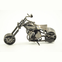 Top Quality Metal Mini Motorcycle Model, Retro Iron Motorcycle Ornaments For Home And Office Decor