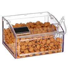 Supermarket Crystal Clear Acrylic Candy Box,Plastic Candy Bin for food storage