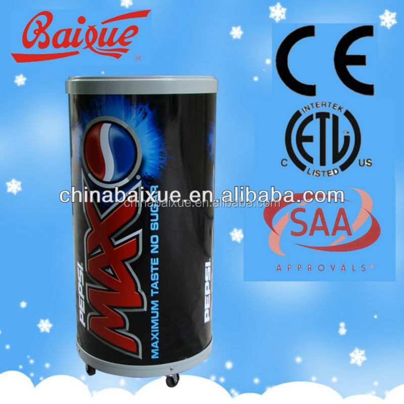 15l HOT SALE MINI Retail store Round electric can cooler CC61 beverage cooler