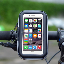 Bike Mount Holder Motorcycle Handlebar Bag Phone Holder Waterproof Zipper Case for Iphone 6 6s 5s Samsung Galaxy S4 S3 and Cellp