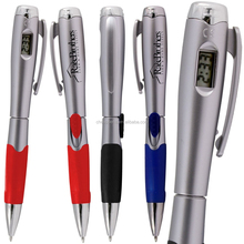 promotional plastic light pen with watch, DIGITAL CLOCK PEN